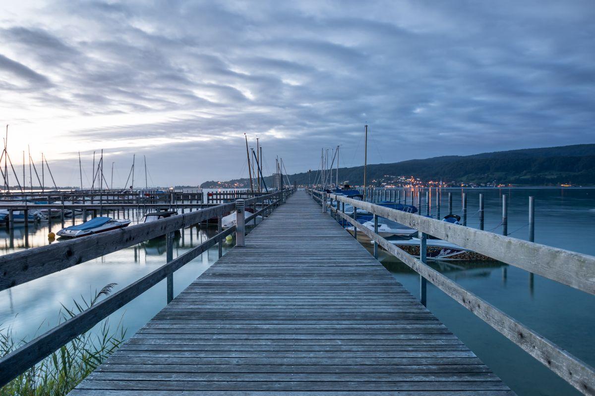 Hafen Horn bei Nacht