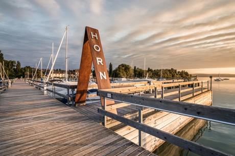 Morgenstimmung Hafen Horn
