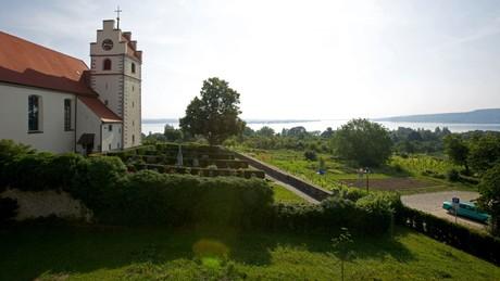 Aussicht vor der Kirche Horn