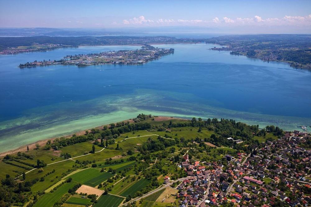 Halbinsel Höri, Blick auf die Insel Reichenau