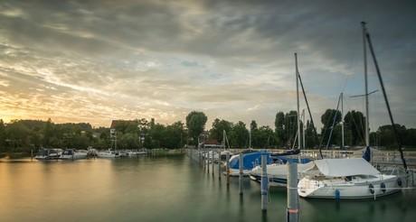 Abendstimmung Hafen Gaienhofen